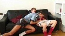 Jogadores de futebol aprontando sacanagem