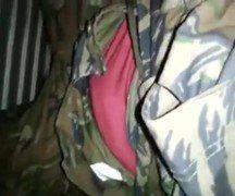 Brasileiro militar bate uma em vídeo