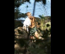 Famosos: Justin Bieber nu em foto