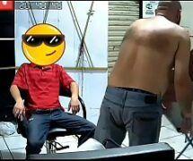 Maduro safado fazendo sexo gay amador com o peludo