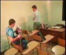 Vintage: Professor traçando aluno